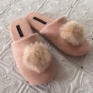 Pink banana republic slippers size 9/10